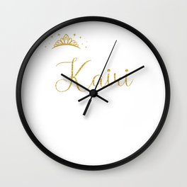 Queens Are Named Kairi Personalized First Name Girl graphic Wall Clock