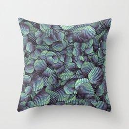 Purple seashells Throw Pillow