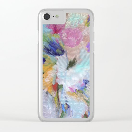 Abstract pattern 54 Clear iPhone Case
