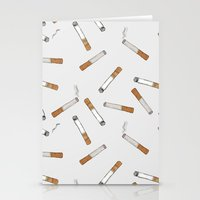 cigarettes Stationery Cards featuring Cigarettes by Abby Galloway