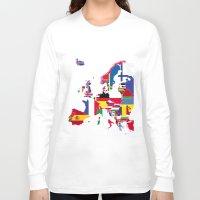 europe Long Sleeve T-shirts featuring Europe flags by SebinLondon