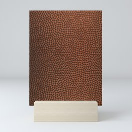 Football / Basketball Leather Texture Skin Mini Art Print