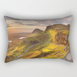 IV - Sunrise at Quiraing, Isle of Skye, Scotland Rectangular Pillow