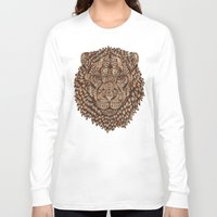 royal Long Sleeve T-shirts featuring Lion (Royal) 2.0 by Norman Duenas
