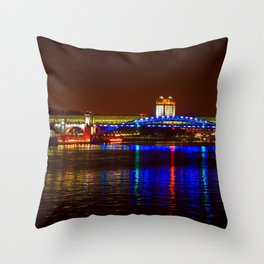 Andreevsky Bridge Over The Moscow River Throw Pillow