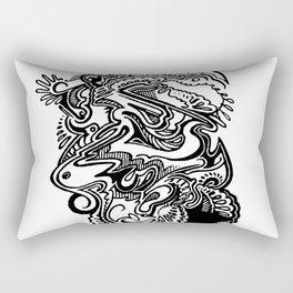 beach foam baby Rectangular Pillow