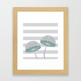 Romantic mushrooms Framed Art Print