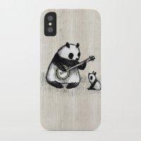 banjo iPhone & iPod Cases featuring Banjo Panda by Sophie Corrigan