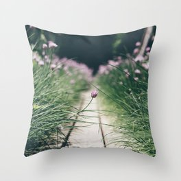 Chive Field Throw Pillow