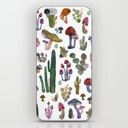 CACTUS AND MUSHROOMS NEW iPhone Skin