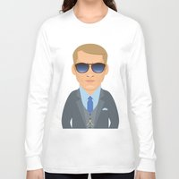 steve mcqueen Long Sleeve T-shirts featuring Steve McQueen by Capitoni