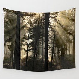 Woodland Sunrise Wall Tapestry