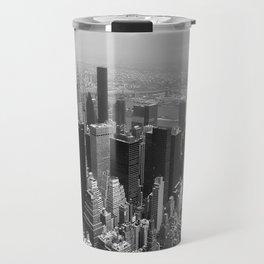 New York City Black and White Travel Mug