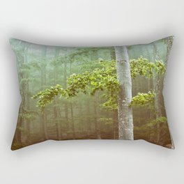 Trees in the forest moved by the wind Rectangular Pillow