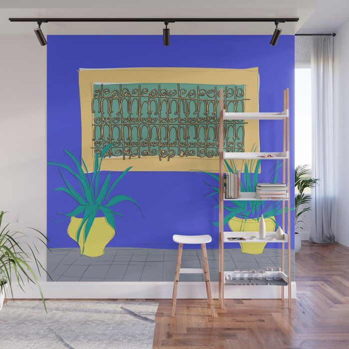 Le Jardin Majorelle, Marrakech (Marrakesh), Morocco Travel Poster Wall  Mural by carrielymandesigns