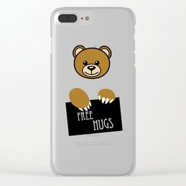 Free Hugs Moschino Clear iPhone Case