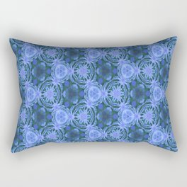 Green and blue flowery pattern Rectangular Pillow