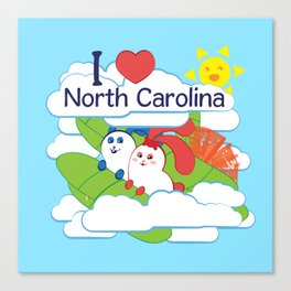 Ernest and Coraline | I love North Carolina Canvas Print