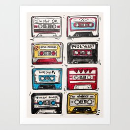 mixtapes Art Print