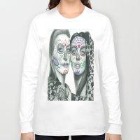 lindsay lohan Long Sleeve T-shirts featuring Meryl Streep and Lindsay Lohan  by Jimmy Lee