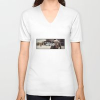 texas V-neck T-shirts featuring texas by Patrick Draper