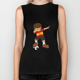 Spain Soccer Ball Dabbing Kid Spaniard Football 2018 Biker Tank