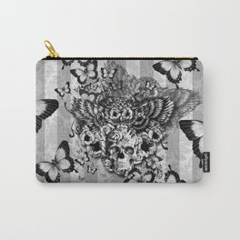 Lost and Found, floral owl with sugar skull Carry-All Pouch