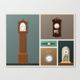 A Series of Vintage Clocks (Part one) Canvas Print
