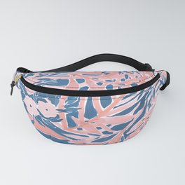 Tropical Daydream Coral Blue Fanny Pack