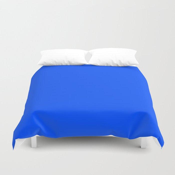 Tropical Blue Solid Color Duvet Cover