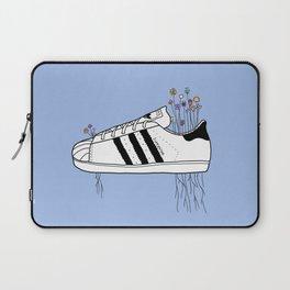 Flowers, Stripes & Superstars (Blue) Laptop Sleeve