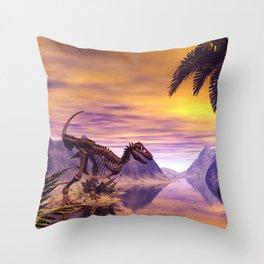 Dinosaur Skeleton Throw Pillow