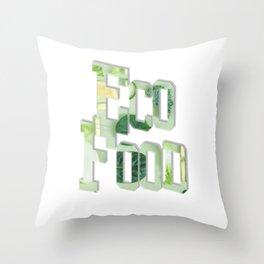 Eco Food Throw Pillow