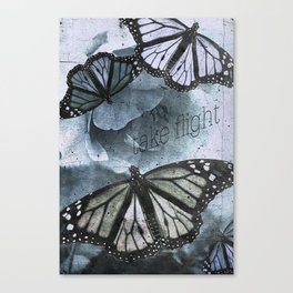 take flight blue Canvas Print
