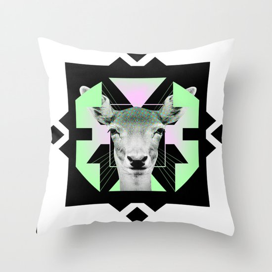 ::Space Deer:: Throw Pillow