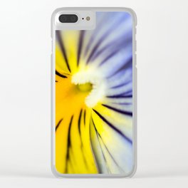 Pansy Close-up Clear iPhone Case