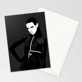 black & little white Stationery Cards