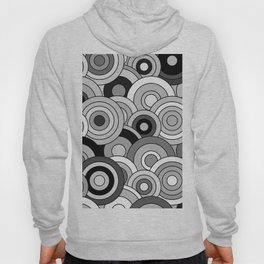 African Style No20, Black and White Hoody