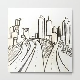 Atlanta - Jackson St. Bridge Metal Print