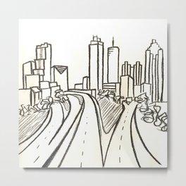 Atlanta - Jackson St. Bridge Metal Print