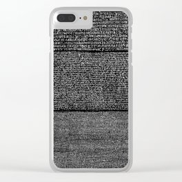 The Rosetta Stone // Black Clear iPhone Case