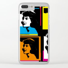 SYVIA PLATH (POP-ART STYLE 4-UP COLLAGE) Clear iPhone Case