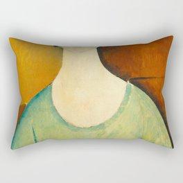 Amedeo Modigliani - Girl in a Green Blouse.jpg Rectangular Pillow