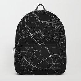 Black on Light Gray Dublin Street Map Backpack