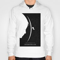 movie poster Hoodies featuring Interstellar Movie Poster by Dukesman