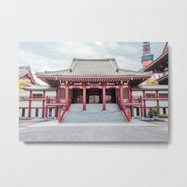 Zojoji Temple Koshoden - Tokyo, Japan Metal Print