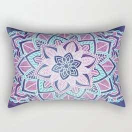 Blueberry Sorbet Mandala Rectangular Pillow