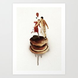 These Burgers Are Crazy II  | Collage Art Print