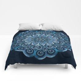 Blue Water Mandala Swirl Comforters