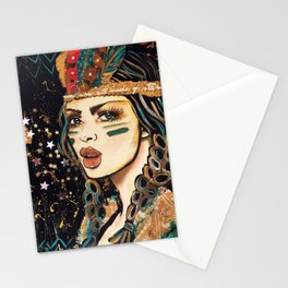 WEA RE ALL MADE OF STARS BOHEMIAN GIRL Stationery Cards
